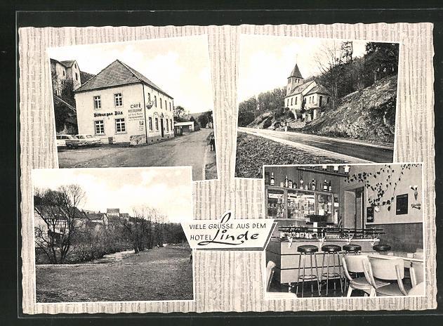 AK Ahrhütte / Blankenheim, Teilansichten vom Ort, Gaststätte