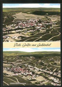 AK Guldental, Ortsansicht Heddesheim, Ortsansicht Waldhilbersheim