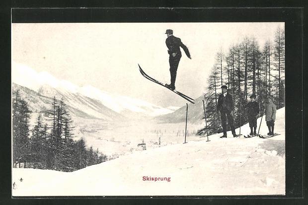 AK Skispringer im Flug