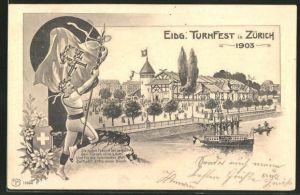 AK Zürich, Eidg. Turnfest 1903, Festhalle