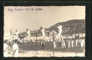AK St. Gallen, 57. Eidg. Turnfest 1922, Turner am Reck