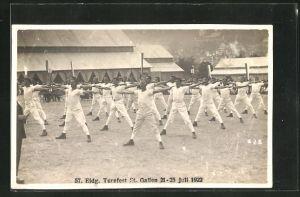 AK St. Gallen, 57. Eidg. Turnfest 1922, Turner bei einer Vorführung
