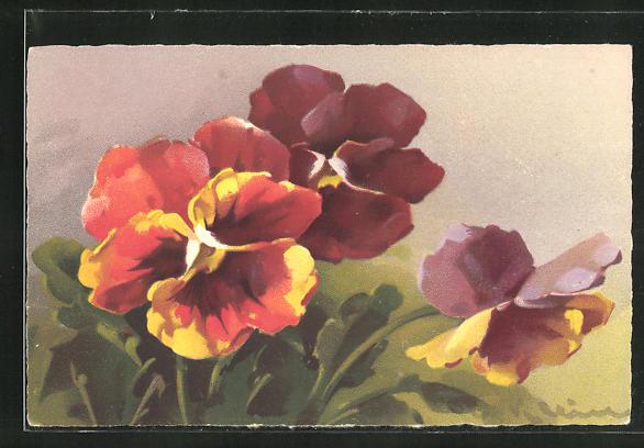 Künstler-AK Catharina Klein: Bildnis von Blumen