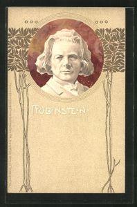 Präge-AK Portrait des Komponisten Rubinstein