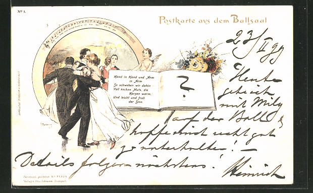 Künstler-AK Georg Mühlberg: Tanzpaare im Ballsaal