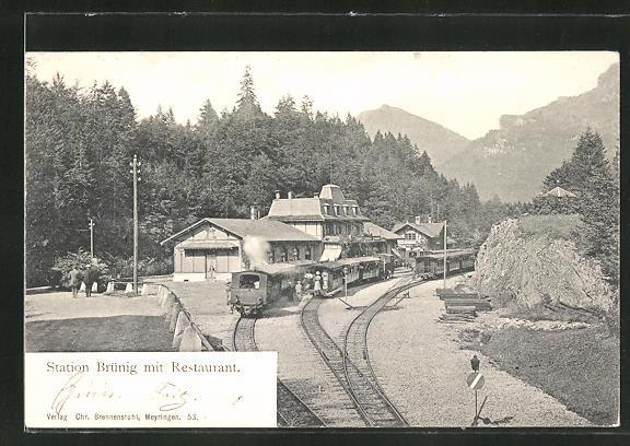 AK Brünig, Bahnhofstation Brünig und Restaurant