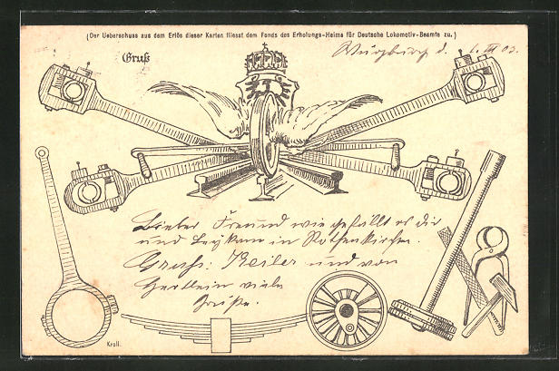 Lithographie Werkzeug für Eisenbahner