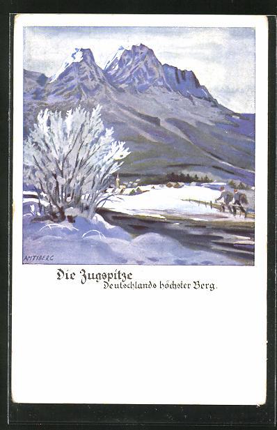 Künstler-AK Otto Amtsberg: Die Zugspitze