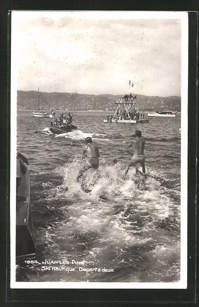 AK Juan-les-Pins, Wasserskifahren auf dem See