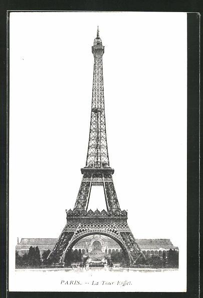 AK Paris, La Tour Eiffel, Ansicht vom Eiffelturm