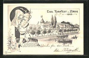 AK Zürich, Eidg. Turnfest 1903, Festgelände