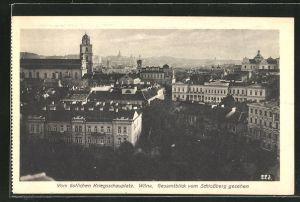 AK Wilna, Vom östlichen Kriegsschauplatz, Gesamtblick vom Schlossberg gesehen
