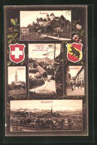 AK Burgdorf, Kirche, Kirchbühl, Schloss und Totalansicht