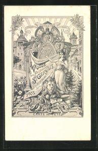 AK Geneve, Vogue du Faubourg St. Gervais 1903