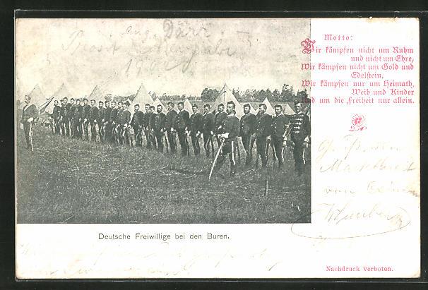 AK Burenkrieg, Deutsche Freiwillige bei den Buren
