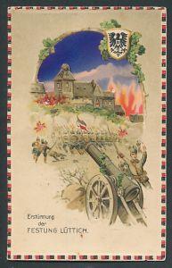 AK Lüttich, Erstürmung der Festung durch deutsche Truppen, Halt gegen das Licht: Feuersglut