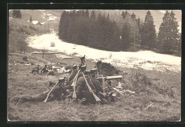 AK Infanterie-Mitrailleure der schweizer Armee
