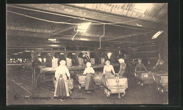 AK Kohlenbergbau, Arbeiterinnen am Förderband