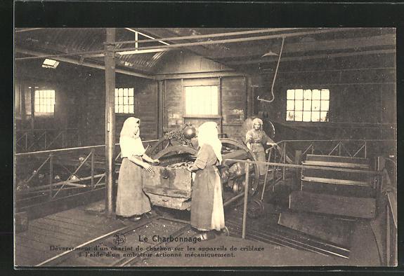 AK Kohlenbergbau, Arbeiterinnen an einer Maschine