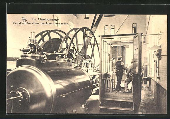 AK Kohlenbergbau, Arbeiter bei den Fördermaschinen