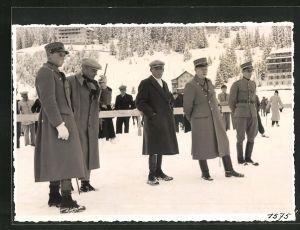 AK schweizer Soldaten im verschneiten Ort