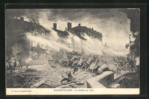 AK Rambervillers, La Défense en 1870, französische Revolution