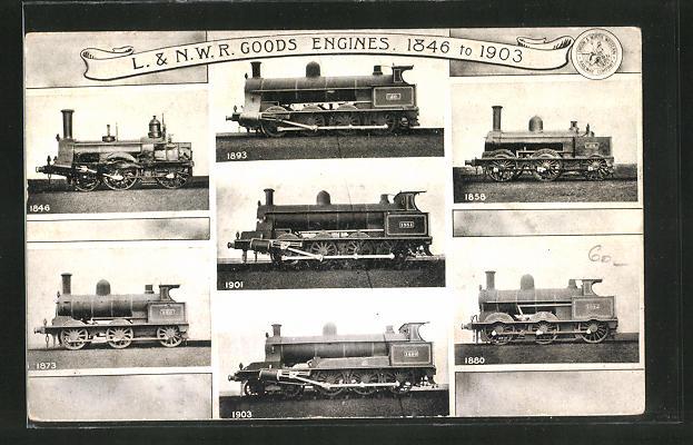 AK L. & N. W. R. Goods Engines 1846 to 1903, englische Eisenbahn