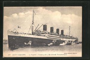 AK Naint-Nazaire, Passagierschiff France vor der Küste
