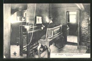 AK Bruges, La chambre du carillonneur de Bruges, Innenansicht