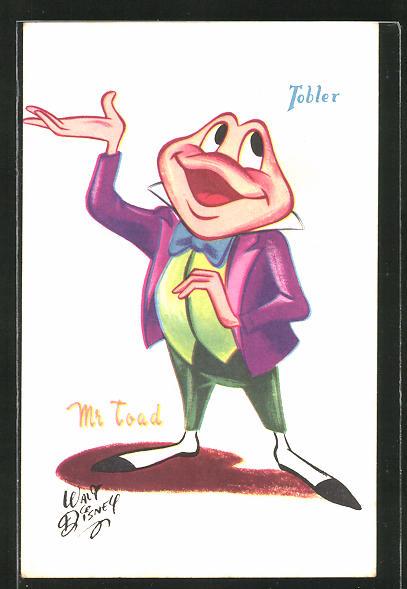 AK Comicfrosch Mr. Toad von Walt Disney