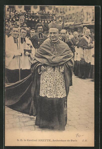 AK Paris, S. E. le Cardinal Amette