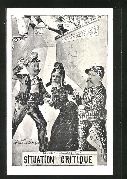 AK Kaiser Wilhelm II. und Adel aus England und Frankreich