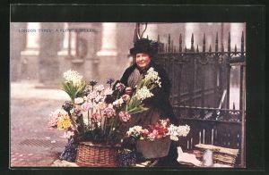 AK London Types: A Flower Seller