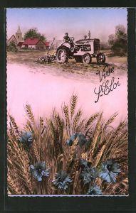 AK Bauer auf einem Traktor von Mc Cormick
