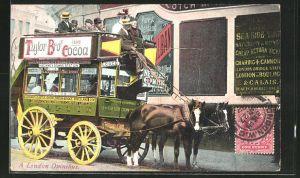 AK London, Pferdekutsche, A London Omnibus