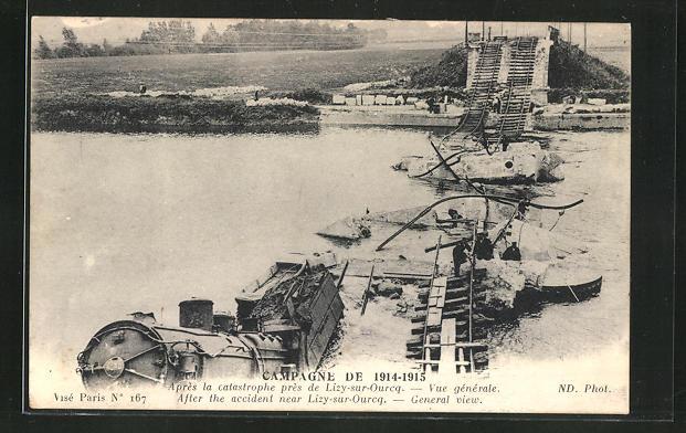 AK Lizy-sur-Ourcq, Eisenbahnunglück