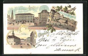 Lithographie Olmütz, Franz Josefplatz, Nieder-Ring, Oberring