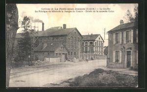 AK La Ferte-sous-Jouarre, Le Gouffre, La Fabrique de billets de la Banque de France, Entree de la nouvelle Usine