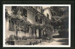 AK Affoltern, Kurhaus Wengibad mit Brunnen