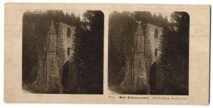 Stereo-Fotografie unbekannter Fotograf, Ansicht Allerheiligen, Motiv der Klosterruine, Bad. Schwarzwald
