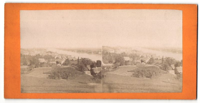 Stereo-Fotografie unbekannter Fotograf, Ansicht Chur, Panorama