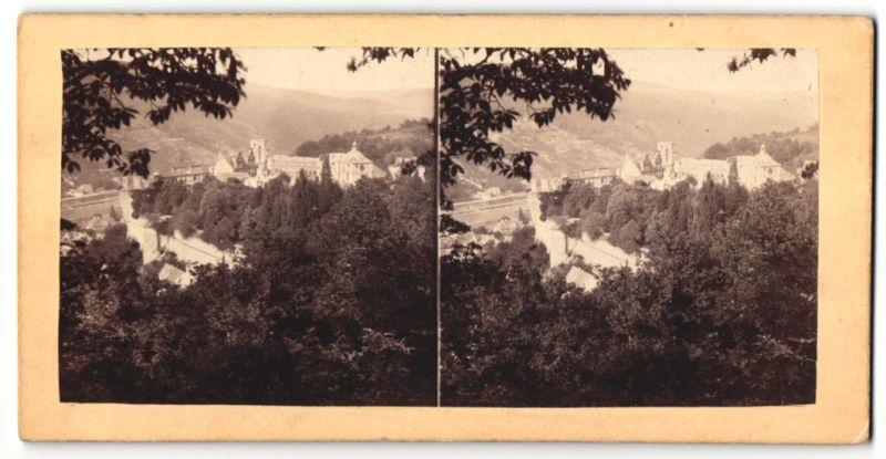 Stereo-Fotografie unbekannter Fotograf, Ansicht Heidelberg, Blick zum Schloss