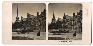 Stereo-Fotografie unbekannter Fotograf, Ansicht Kopenhagen, Ansicht des Gebäudes
