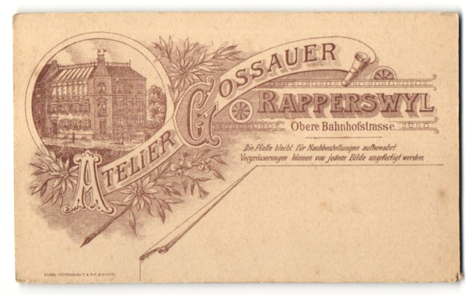 Fotografie Atelier Gossauer, Rapperswyl, rückseitige Ansicht Rapperswyl, Atelier Obere Bahnhofstrasse