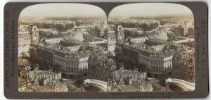 Stereo-Fotografie R. Y. Young, Ansicht Paris, Blick vom Turm von St. Jacques