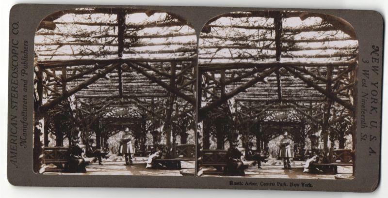 Stereo-Fotografie American Stereoscopic Co., Ansicht New York City, Central Park