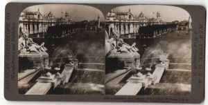 Stereo-Fotografie American Stereoscopic Co., Ansicht St. Louis, Worlds Fair, Cascades and Lagoon