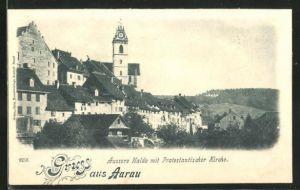 AK Aarau, Äussere Halde mit Protestantischer Kirche