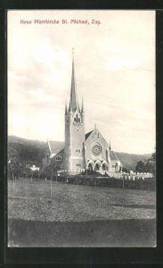 AK Zug, Neue Pfarrkirche St. Michael
