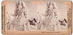 Stereo-Fotografie Griffith & Griffith, Philadelphia, Ansicht Niagara, Prospect Park, Winteridyll